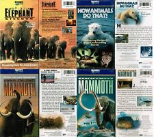 Lot of 4 New VHS Video Animals Nature Documentary Discovery Channel Mammoth ++++
