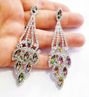 Chandelier Earrings Rhinestone Vitrail Crystal 3.5 inch