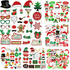Christmas Hats Photo Booth Props Xmas Party Selfie Arrow Instagram Santa Claus