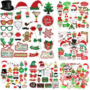Christmas Hats Photo Booth Props Xmas Party Selfie Arrow Instagram Santa Claus
