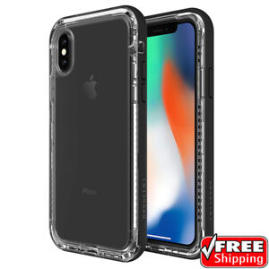 NEW LifeProof Next For iPhone X & XS 10 Snowproof Hard Case Black Crystal Clear