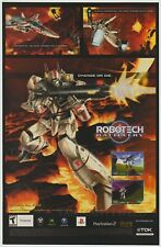 Robotech Battlecry - Vintage Xbox Ps2 etc Video Game Print Ad Advertisement 2002