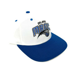 Adidas Orlando Magic Snapback Hat Retro White Blue Cap OSFA NEW