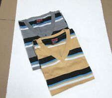 Brand New Lot Of 2 Men's Pure Vintage Wide Striped Premium V-Neck T-Shirts 2XL