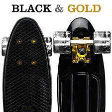 "2017 NEW! ""CLASSIC BLACK GOLD"" - 22"" Penny Style SkateBoard Mini Plastic Cruiser"