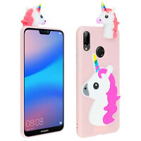 Case for Huawei P20 Lite Resistant silicone protection with 3D Unicorn - Pink