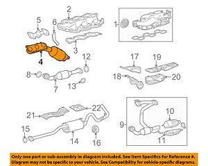 TOYOTA OEM 07-08 Tacoma 4.0L-V6 Exhaust Manifold Right 171400P100