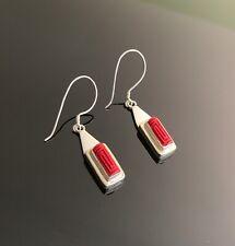 Sajen 925 sterling silver Coral dangle earrings