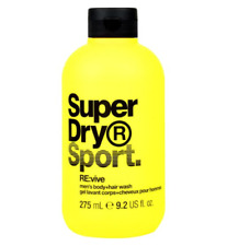 SuperDry Sport RE:vive Men's Hair and Body Wash 1x275ml NEW