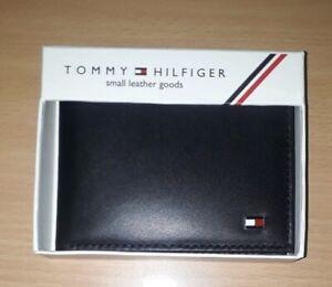 Mens Leather Wallet'Tommy Hilfiger' Black, Bifold, Card Slot, Coin Holder
