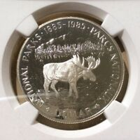 1985 Canada One Dollar NGC PF 69 Ultra Cameo - National Parks Centennial