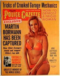 National Police Gazette - October 1972 Vintage Magazine: Julie Ege; Muhammad Ali