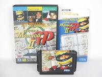 AYRTON SENNA'S MONACO GP II 2 Mega Drive Sega Japan Game md