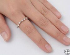 CZ Eternity Thin Band Ring Sterling Silver 925 Best Price Jewelry Selectable