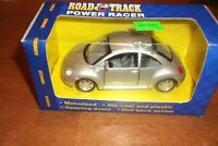 VW Volkswagon Maisto Road & Track Power Racer Beetle Silver 1:43 Scale (100)