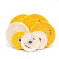 "3-12"" White Cloth Cotton Polishing Buffing Wheel Jewelry Metal Aluminum and Wood"