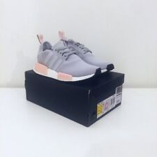 Adidas NMD R1 Runner Clear Onix Light Grey Baby Pink UK 4 Reflective 3M OFFICE