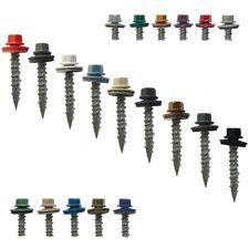 "Metal Roofing Screws: 1"" (250) Bulk Colored Metal Roofing Screw and Siding Screw"