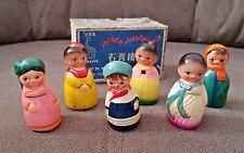 Vintage Terra Cota Ceramic CHINA Pencil Sharpener Japan Traditional SET BOXED