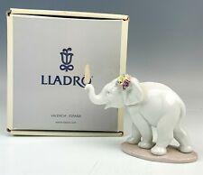 New ListingIn Box Lladro Lucky Strolling Trunk Up Elephant 6460 Porcelain Figurine Nr Wil