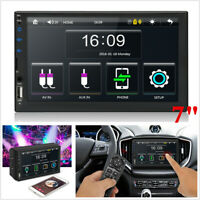 7in 2 DIN Touch Screen Car Radio Bluetooth MP5 Player FM Stereo Mirror Link USB