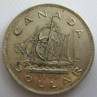 CANADA 1949 NEWFOUNDLAND EXTRA FINE SILVER DOLLAR COIN - D