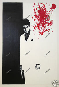 Scarface Oil Painting Al Pacino Hand-Painted Art Canvas NOT Print Poster 36x48