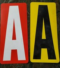 """123 Pc Lot 9"""" MARQUEE SIGN PLASTIC LETTERS NUMBERS Reversible Display red yellow"""
