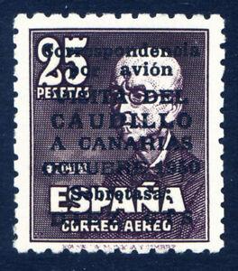 ✔️★★ EDIFIL 1090 - VISITA CAUDILLO A CANARIAS SIN FIJASELL+CERTIFICADO (1.060€)★