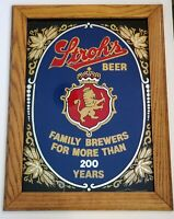 "VINTAGE RARE STROH'S BEER 24""X18"" BAR MIRROR SIGN"