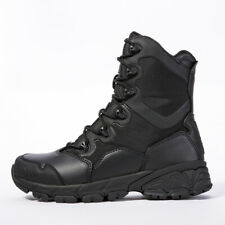 Mens Military Tactical Combat Army Boots 8'' Waterproof Zipper Ankle Hiking Boot