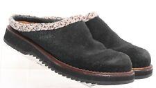 Simple 9533 Hallie Black Suede Slip On Mule Clog Casual Braided Shoe Womens US 7