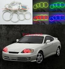 4x RGB Multi-Colo Angel Eyes kit For Hyundai Tiburon 2003-2006 Halo Ring