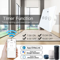 Smart WIFI Curtain Switch Touch Panel APP Voice Control Google Home Amazon Alexa