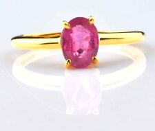 Solid 14KT Yellow Gold 1.50CT Oval Shape Natural Pink Tourmaline Wedding Ring