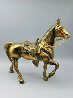 Pferd Figur Messing Bronziert ca. 19 cm