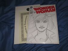 WONDER WOMAN #36 Original Art Sketch by Ant Lucia ~New DC 52/Blank Variant JLA