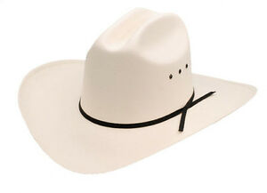 NEW! Western Low Crown Straw Cowboy Hat Adult  (6 5/8 - 7 7/8) White