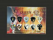 Queen Classic Matted Picture Guitar Pick Set Collector's Gold We Will Rock You