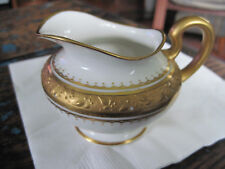 White Creamer with Gold Handle 7 Gold Band Whiteware #3 Limoges France