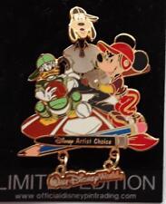 Disney Big Pin Game Baseball Artist Choice Dangle Goofy Donald & Mickey LE Pin