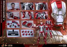 (U) 1/6 HOT TOYS MARVEL IRON MAN 2 MMS400D18 MK5 MARK V DIECAST ACTION FIGURE