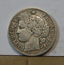Monnaie france argent silver 2 francs ceres 1887 A