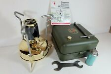 Old Vintage Brass OPTIMUS No 00 Camping Stove In Rare Steel Box