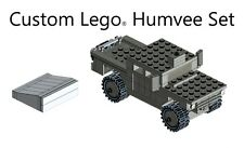 Gray Military Humvee custom set made with real LEGO® bricks With Instructions