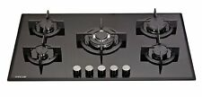 MILLAR GH9051PB 5 Burner Built-in Gas on Glass Hob 90cm - Cast Iron Stands & Wok