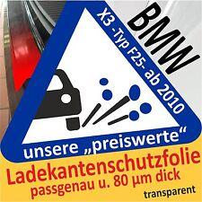 BMW X3 -f25- diapositiva AUTO PELLICOLA DI PROTEZIONE VERNICE PARAURTI