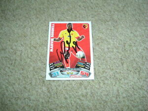 MARVIN SORDELL - WATFORD - SIGNED 11/12 MATCH ATTAX TRADE CARD