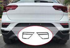 For VW Volkswagen T-ROC 2017 2018 Chrome Rear Tail Fog Light Lamp Cover Trim *2