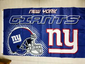 New York Giants New Wordmark Flag 3x5 FT Football NFL Banner Polyester